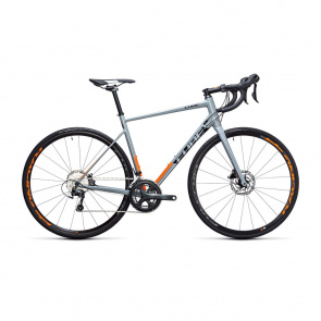 Cube - Promo Vélo de Course Cube Attain Race Disc Gris/Orange 2017