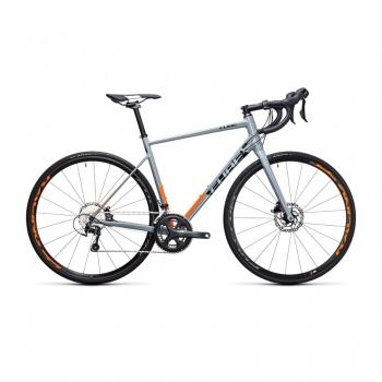 Vélo de Course Cube Attain Race Disc Gris/Orange 2017