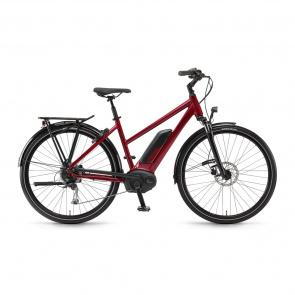 Winora - Promo Vélo Electrique Winora Sinus Tria 9 500 Trapèze Rouge Cerise 2018 (44251098)