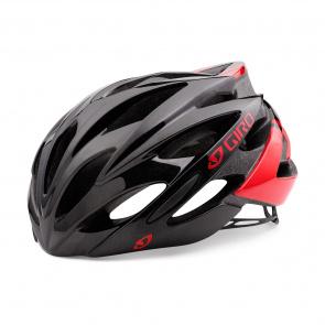 Giro Casque Route Giro Savant Noir/Rouge 2017