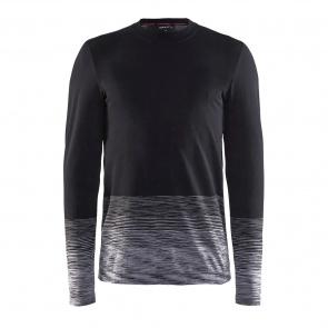 Craft Craft Wool Comfort 2.0 Ondershirt met Lange Mouwen Zwart/Donkergrijs 2018