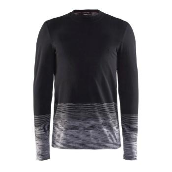 Craft Wool Comfort 2.0 Ondershirt met Lange Mouwen Zwart/Donkergrijs 2018