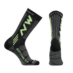 Northwave Chaussettes Northwave Husky Ceramic Tech 2 High Noir 2019-2020