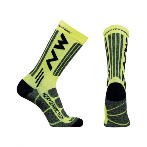 Northwave Chaussettes Northwave Husky Ceramic Tech 2 High Jaune Fluo 2018