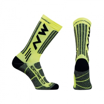 Chaussettes Northwave Husky Ceramic Tech 2 High Jaune Fluo 2018