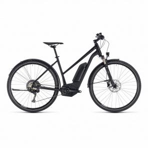 Cube - 2018 Vélo Electrique Cube Cross Hybrid Race Allroad 500 Trapèze Noir/Blanc 2018