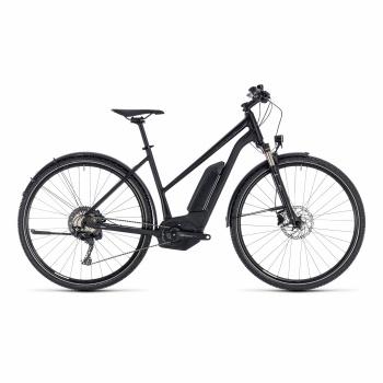 Vélo Electrique Cube Cross Hybrid Race Allroad 500 Trapèze Noir/Blanc 2018
