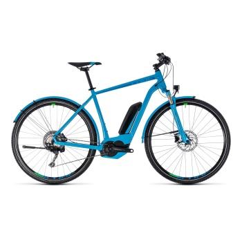 Vélo Electrique Cube Cross Hybrid Race Allroad 500 Bleu/Vert 2018