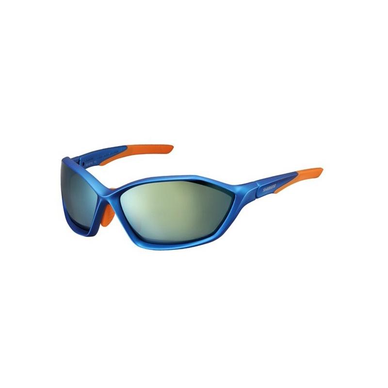 Lunettes Shimano S71X Blue Métallisé/Orange - 2 Verres