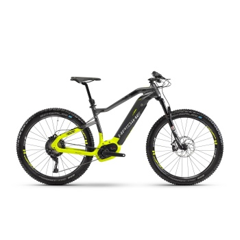 "VTT Electrique 27.5"" Haibike SDuro HardSeven 9.0 500 Titane/Jaune Fluo 2018"