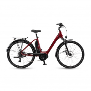 Winora - 2018 Vélo Electrique Winora Sima 7 400 Easy Entry Rouge Cerise 2018