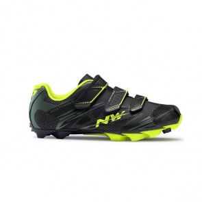 Chaussures VTT Northwave Scorpius 2 Plus Noir Military/Vert Fluo 2017
