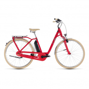 Cube - 2018 Vélo Electrique Cube Elly Cruise Hybrid 400 Easy Entry Rouge/Menthe 2018