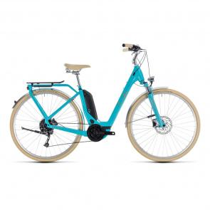 Cube - 2018 Vélo Electrique Cube Elly Ride Hybrid 400 Easy Entry Aqua/Orange 2018
