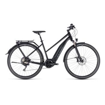 Vélo Electrique Cube Touring Hybrid EXC 500 Trapèze Noir/Gris 2018