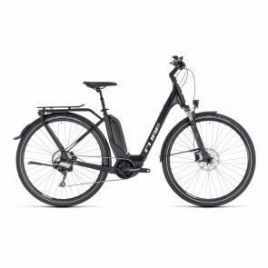 Cube - 2018 Vélo Electrique Cube Touring Hybrid Pro 400 Easy Entry Noir/Blanc 2018