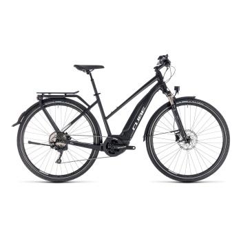 Vélo Electrique Cube Touring Hybrid Pro 400 Trapèze Noir/Blanc 2018 (131150)