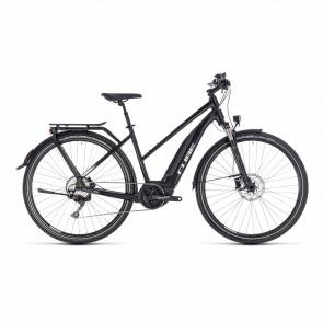 Cube - Promo Vélo Electrique Cube Touring Hybrid Pro 500 Trapèze Noir/Blanc 2018 (131151)