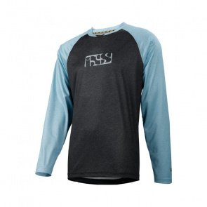 IXS IXS Progressive 7.1 Shirt met Lange Mouwen Zwart/Brisk Blauw 2018