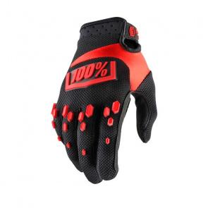 100% 100% Airmatic Handschoenen Zwart/Rood 2018