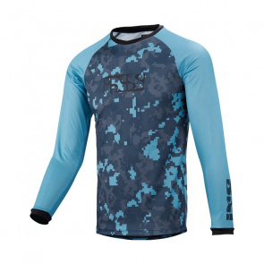 IXS IXS Pivot 8.1 Shirt met Lange Mouwen voor Kinderen Blauw/Camo 2018
