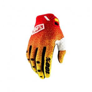 100% 100% Ridefit Handschoenen Rood/Geel 2018