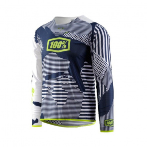 100% Maillot Manches Longues 100% R-Core X DH Camo Blanc 2018
