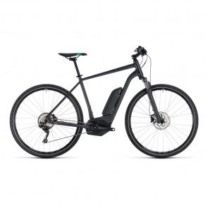 Cube - Promo Vélo Electrique Cube Cross Hybrid Pro 400 Gris/Vert 2018 (130200)
