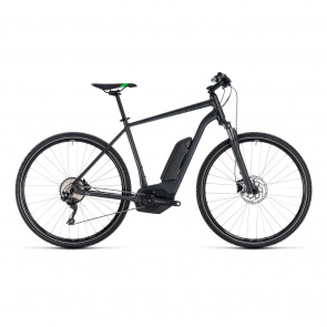 Cube - 2018 Vélo Electrique Cube Cross Hybrid Pro 400 Gris/Vert 2018