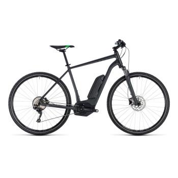 Vélo Electrique Cube Cross Hybrid Pro 400 Gris/Vert 2018