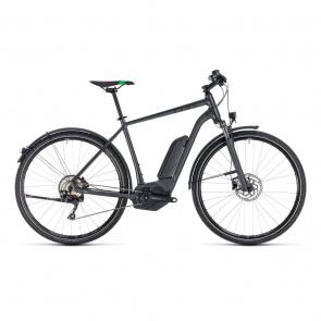 Cube - 2018 Vélo Electrique Cube Cross Hybrid Pro Allroad 400 Gris/Vert 2018