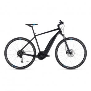 Cube - 2018 Vélo Electrique Cube Cross Hybrid One 400 Noir/Bleu 2018