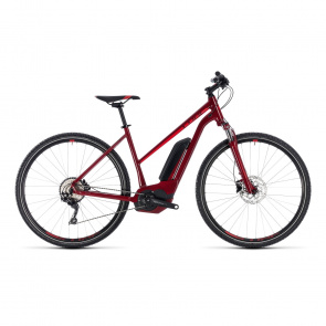 Cube - Promo Vélo Electrique Cube Cross Hybrid Pro 500 Trapèze Rouge/Rouge 2018