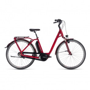 Cube - 2018 Cube Town Hybrid Pro 400 Easy Entry Elektrische Fiets Rood/Rood 2018