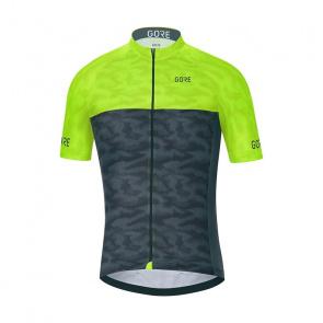 Gore Bike Wear Maillot Manches Courtes Gore Wear C3 Caméleon Noir/Jaune Néon 2018