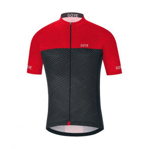 Gore Bike Wear Gore Wear C3 Optiline Shirt met Korte Mouwen Grafiet Grijs/Rood 2018