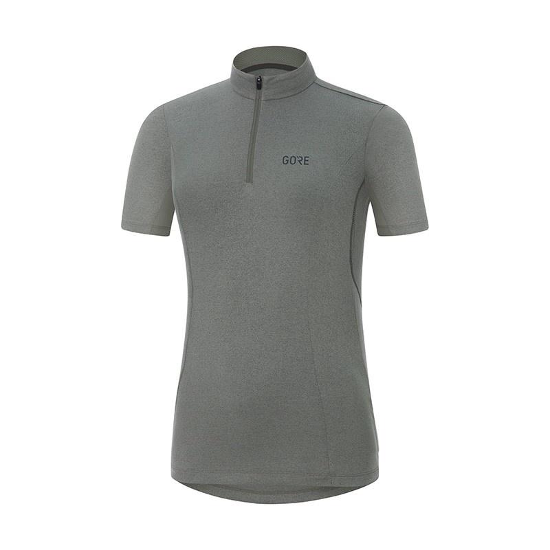 Gore Wear C3 Shirt met Korte Mouwen voor Vrouwen Melange Castor Grijs 2018