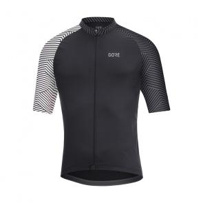 Gore Bike Wear Gore Wear C5 Optiline Shirt met Korte Mouwen Zwart/Wit 2020