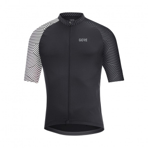 Gore Bike Wear Maillot Manches Courtes Gore Wear C5 Optiline Noir/Blanc 2018