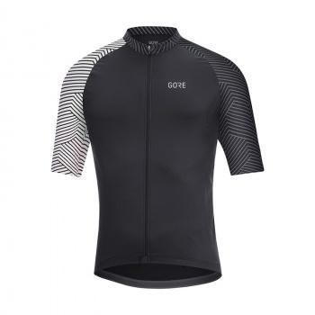 Gore Wear C5 Optiline Shirt met Korte Mouwen Zwart/Wit 2018