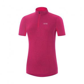 Gore Bike Wear Gore Wear C3 Shirt met Korte Mouwen voor Vrouwen Melange Jazzy Roze 2018