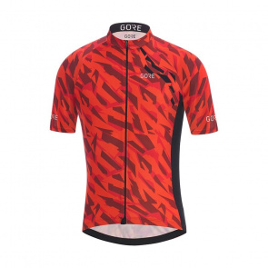 Gore Bike Wear Maillot Manches Courtes Gore Wear C3 Camo Orange/Noir 2018