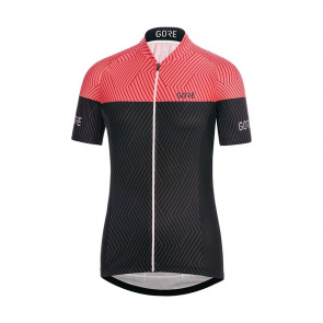 Gore Bike Wear Maillot Manches Courtes Femme Gore Wear C3 Optiline Noir/Corail Glow 2018