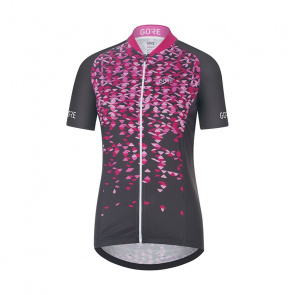 Gore Bike Wear Gore Wear C3 Petals Shirt met Korte Mouwen voor Vrouwen Raven Bruin/Roze 2018
