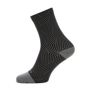 Gore Bike Wear Chaussettes Gore Wear C3 Optiline Mid Gris Graphite/Noir 2018