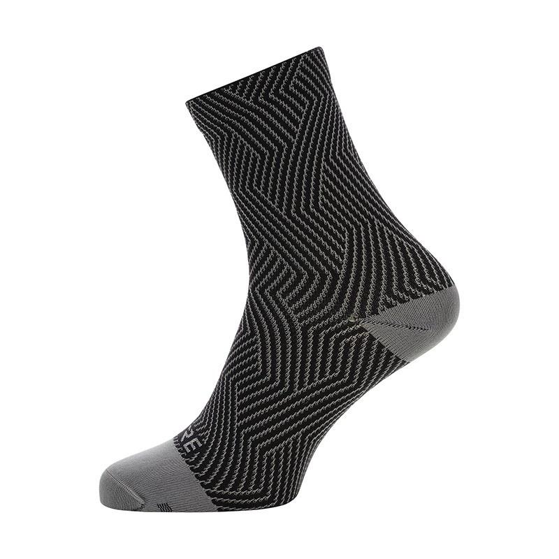 Chaussettes Gore Wear C3 Optiline Mid Gris Graphite/Noir 2020