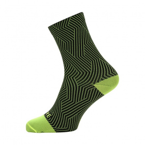 Gore Bike Wear Chaussettes Gore Wear C3 Optiline Mid Jaune Néon/Noir 2018