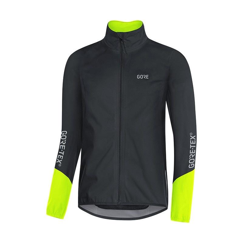 Gore Wear C5 Gore-Tex Active Jas Zwart/Neon Geel 2018