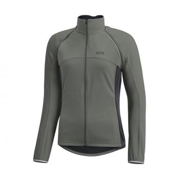 Gore Wear C3 Windstopper Phantom ZO Jas voor Vrouwen Castor Grijs/Terra Grijs 18