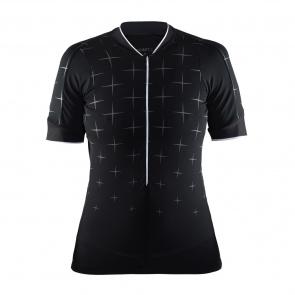 Craft Craft Belle Glow Shirt met Korte Mouwen voor Vrouwen Zwart/Wit 2018